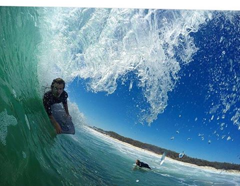 Getting a little head cover fluxbodyboard yotphotography byronbay australia goodtimeshellip